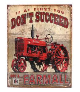"Plaque métallique Farmall ""don't succeed"""