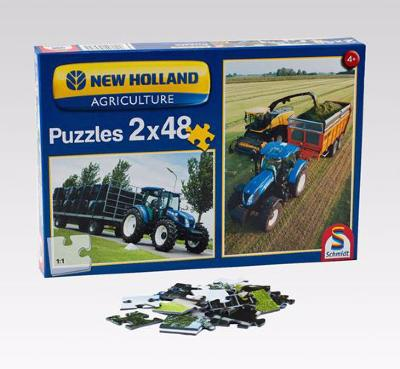 Lot de 2 puzzles New Holland 48 pièces