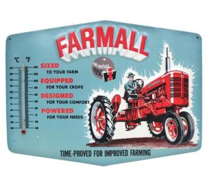 Plaque Farmall thermomètre