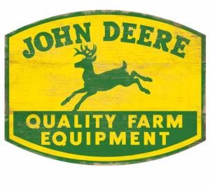 "Plaque ""wood sign"" John Deere"