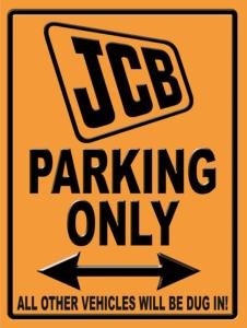 Plaque JCB Parking Only