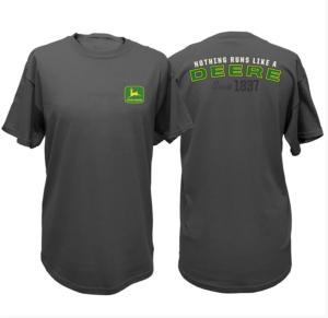 Tee shirt John Deere Nothing runs gris