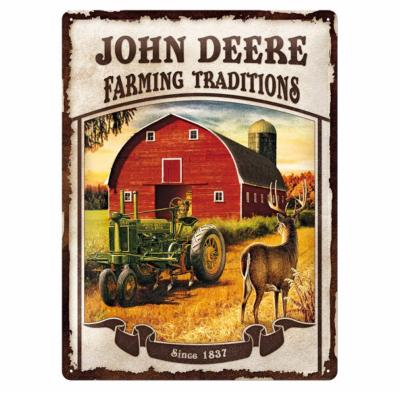 "Plaque métallique ""Farming traditions"" John Deere"