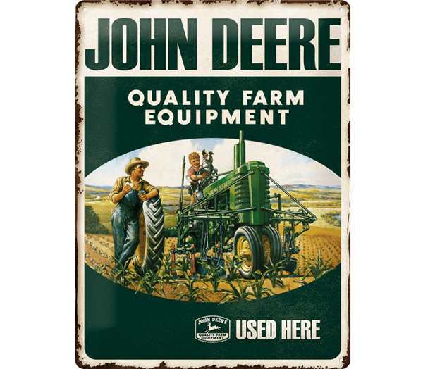 "Plaque John Deere ""Quality Farm Equipment"""