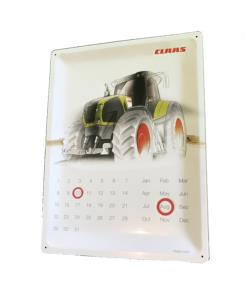 Plaque calendrier Claas